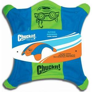 Chuckit FLYING SQUIRREL Dog Fetch Toy Floating Flyer Glowing Paws Large