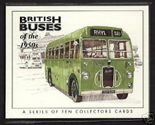 BRITISH BUSES of the 1950s - Collectors Card Set - Sentinel Dennis Crossley AEC