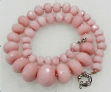 """Ruby Abacus Beads Necklace 18"""" Huge 10-20mm Faceted pink Red"""