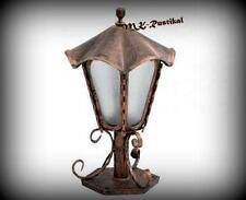 Schmiedeeisen Sockellampe antikes Design Leuchte Außenlampe Sockelleuchte 26-120