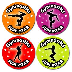 144 Gymnastic Reward Stickers Superstar Theme Schools clubs kids Award