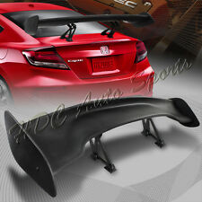 "Universal 57"" TYPE-3 Black ABS GT JDM Rear Trunk Spoiler Wing+Aluminum Leg Stem"
