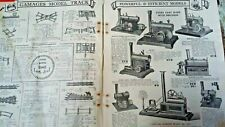 More details for gamages 1930's trains steam engine speedboat lamps games part catalogue