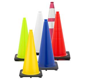 JBC Revolution Traffic Cones - Premium PVC - Safety Cones - Traffic Pylons