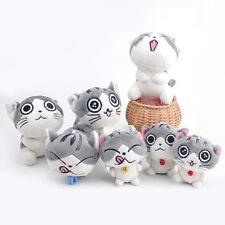 1PC Kawaii Cat Plush Doll Toys Stuffed Funny Animal Bolster Key chain Keyring