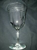 "Set of 4 - Vintage Cut/Etched Water/Wine Glasses 6"" tall 3 3/8"" wide Bell Shape"