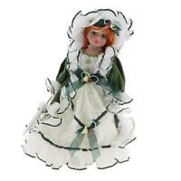 16inch Vintage Victorian Porcelain Girl Doll Ceramic Lady With Wooden Stand