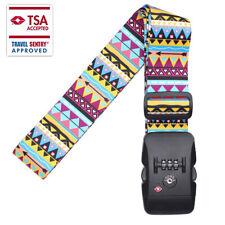 Suitcase Luggage Baggage Straps Adjustable Lock Combination Tie Belt Down Travel