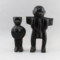99839110 Par Antiguo Africano Figuras Madera Togo ? Masculino + Hembra Hbis32cm