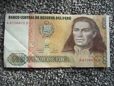 500 peru banknotes ebay one peru 500 quinientos intis banknote 1987 a prefix reasonable thecheapjerseys Image collections
