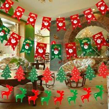UK Christmas Tree Santa Hanging Flag Banner Ornament Gifts Party Home Decor Xmas
