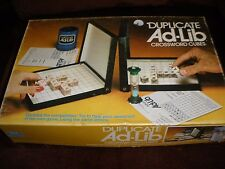 DUPLICATE AD-LIB CROSSWORD CUBE GAME BY LOWE 1978