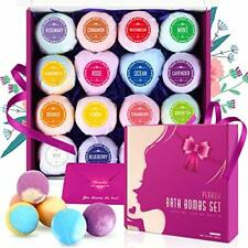 Bombe Bain 16 PCS-Peradix Cadeau Boule Bain Bio Enfant Femme  Huiles Essentiel