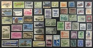 World Lot Used Stamps Planes, Trains And Automobiles, Cars, Transportation