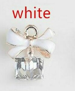 10pcs/lot Square Glass Enamel Charms Alloy Oil Drop Pendants Jewelry Making Acce