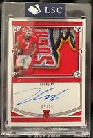 2020 D'ANDRE SWIFT SSP /10 National Treasures Bowl Patch Logo ROOKIE PATCH AUTO