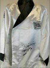 """Mike """"Jinx"""" Spinks & Leon """"Neon"""" Spinks Dual Signed Everlast Boxing Robe W/ COA"""