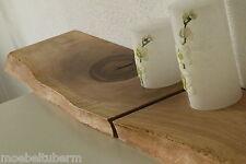 2xWandboard Nussbaum Massiv Holz Board Regal Steckboard Regalbrett Baumkante NEU