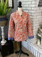 Norm thompson escape from the ordinary womens quilted paisley mandarin collar ja
