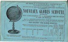 Stampa antica pubblicità GLOBI SCHOTTE 1870 Antique print