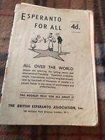 Esperanto for All - By The British Esperanto Association Pamphlet C1945