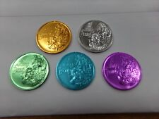 Lot of 5 A Thing of Beauty 1979 Mardi Gras Coins/Tokens Bronze Silver Blue Green