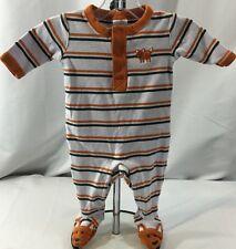 Gymboree Forest Rascals Boy's 0-3 Months One Piece Outfit Fox Striped Orange
