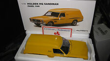 BIANTE AUTOart 1.18 HOLDEN HQ SANDMAN PANEL VAN CHROME YELLOW + SURF BOARDS