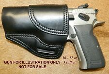 "Gary C's OWB Avenger ""XH"" LEFT HAND Leather HOLSTER EAA Witness FS Steel w Rail"