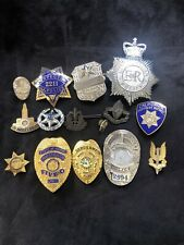 Collectible Vintage Police Pins And Badges Lot Obsolete