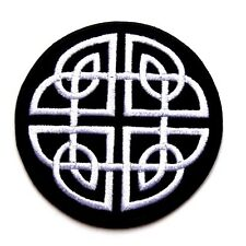 Celtic Embroidered Patch Iron Sew On  Applique Badge Cross biker punk Ireland