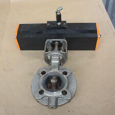 EBRO ARMATUREN EB8FW2 Actuator Spring Return on DN50 metal seat butterfly valve
