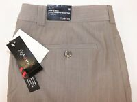 NWT STYLE&Co Size 16 Women's Flat Front Sand Stripe JULIE FIT Stretch Dress Pant