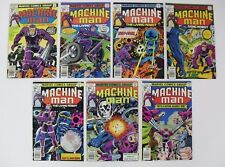 Set of high grade comics MACHINE MAN #1-7, Marvel, JACK KIRBY covers/art/scripts