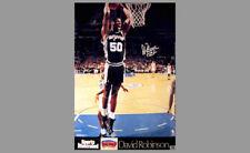 David Robinson 2-HAND SLAM San Antonio Spurs SI Signature POSTER (1992 Original)