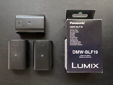 2x Panasonic Dmw-Blf19 Genuine Factory Batteries + Free Extra Battery