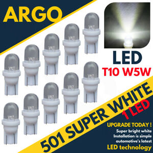 501 Bright Led White Bulbs Side Light W5w 158 168 T10 Super Capless Upgrade 12v