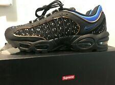 LIKE NEW Nike x Supreme AIR MAX Tailwind IV/S Black/Hyper Cobalt Men's 10.5 MINT