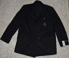 New Mens Chaps Wool Dress Coat 48 Long Charcoal Gray Lined Winter Jacket 48L NWT