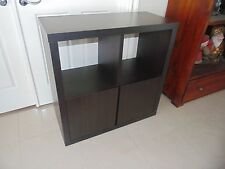 2 NEW WENGE CUPBOARD Cabinet CHOCOLATE BROWN shelves BOOKCASE wall unit 86 x86cm