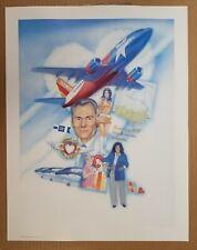 '91 SOUTHWEST AIRLINES Art Print 20 Year Anniversary Herbert D Kelleher Airplane