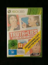 TRUTH OR LIES Someone will get caught - Xbox 360  - PAL - Promo - New & Sealed