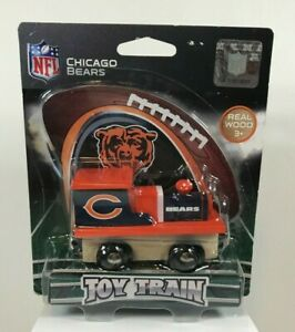 Chicago Bears NFL Wooden Magnetic Toy Train Engine