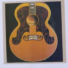 Pop-tarjeta Feat. Gibson J-200 Guitarra detalle, 15x15cm Tarjeta de felicitación AAV