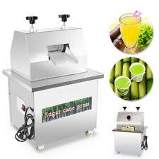 Automatic 110v Sugarcane Juicer Sugar Cane Grind Press Machine Stainless Steel