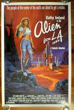 ALIEN FROM L. A. Original 1988 American One Sheet Movie Poster Kathy Ireland