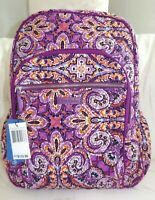 VERA BRADLEY Campus Backpack Book Bag - DREAM TAPESTRY - Purple - New with Tag