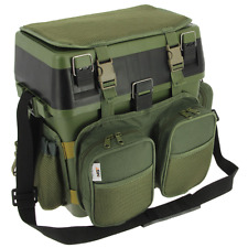 NGT 'Session' Seat Box System with Canvas Rucksack Overcoat Carp Fishing System