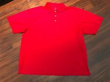 George Golf  Shirt Large (42/44) Vibrant Red 100% Polyester!