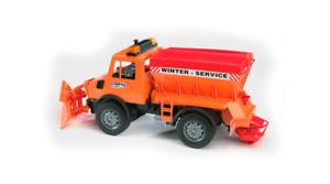 Mercedes Benz Unimog Snow Blower Removal car Bruder Toy Car Model 1/16 1:16
